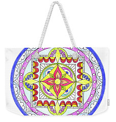 Weekender Tote Bag featuring the photograph Mandala by Marilyn Hunt