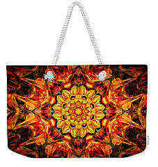 Mandala Of The Sun In A Dark Kingdom Weekender Tote Bag