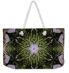 Weekender Tote Bag featuring the digital art Mandala Sea Sponge by Nancy Griswold