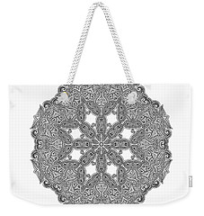 Mandala To Color Weekender Tote Bag by Mo T