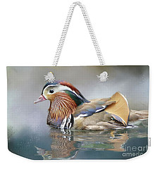 Mandarin Duck Swimming Weekender Tote Bag