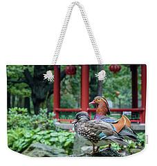 Mandarin Ducks At Pavilion Weekender Tote Bag