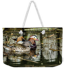 Mandarin Ducks The Couple Weekender Tote Bag by Torbjorn Swenelius