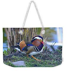 Mandarin On The Move Weekender Tote Bag by Lynn Hopwood