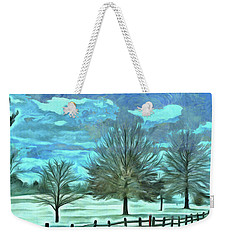 Weekender Tote Bag featuring the mixed media Mandisa by Trish Tritz