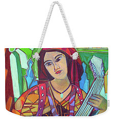 Weekender Tote Bag featuring the painting Mandolin-eight Strings by Denise Weaver Ross