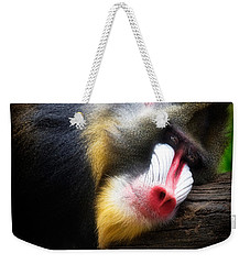 Mandrill Baboon Weekender Tote Bag by Lana Trussell