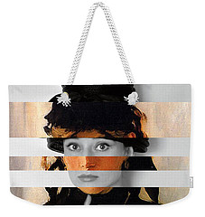 Manet's Berthe Morisot With A Bouquet Of Violets And Audrey Hepburn Weekender Tote Bag by Luigi Tarini