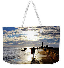 Weekender Tote Bag featuring the photograph Mangalsala Pier by Fabrizio Troiani
