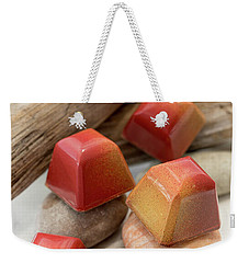 Weekender Tote Bag featuring the photograph Mango Passion Fruit Explosion by Sabine Edrissi