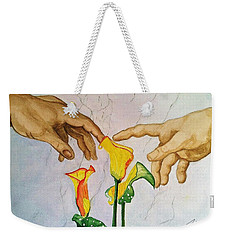 Man, God...and Calla Lilies Weekender Tote Bag