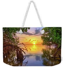 Mangrove Sunset From Jensen Beach Florida Weekender Tote Bag
