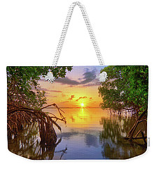 Weekender Tote Bag featuring the photograph Mangrove Sunset From Jensen Beach Florida by Justin Kelefas