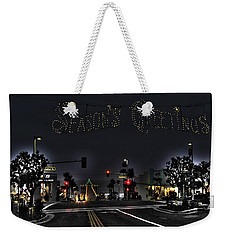 Manhattan Beach Christmas Weekender Tote Bag