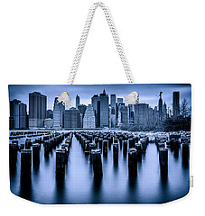 Weekender Tote Bag featuring the photograph Manhattan Blues by Chris Lord