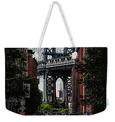 Manhattan Bridge  Weekender Tote Bag by Anthony Fields
