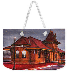 Manhattan Kansas Train Depot Weekender Tote Bag