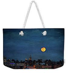 Manhattan Moonrise Weekender Tote Bag by Chris Lord