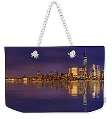 Manhattan, New York At Dusk Panoramic View Weekender Tote Bag