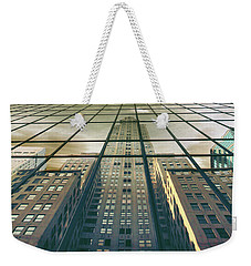 Weekender Tote Bag featuring the photograph Manhattan Reflected by Jessica Jenney