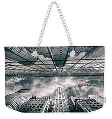 Weekender Tote Bag featuring the photograph Manhattan Reflections by Jessica Jenney