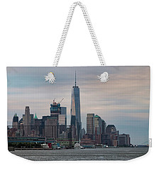 Manhattan Skyline At Twilight I Weekender Tote Bag by Marianne Campolongo