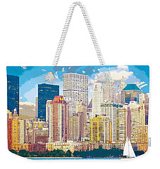 Manhattan Skyline New York City Weekender Tote Bag