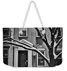 Weekender Tote Bag featuring the photograph Manhattan Town House by Joan Reese