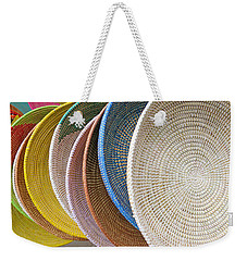 Manhattan Wicker Weekender Tote Bag