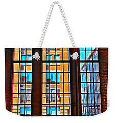 Manhattan Windows Weekender Tote Bag by Joan Reese