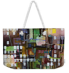 Weekender Tote Bag featuring the painting Manifold by Hailey E Herrera