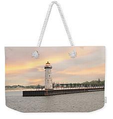 Manistee North Pierhead Lighthouse Weekender Tote Bag