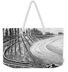 Manly Beach In Black And White Weekender Tote Bag