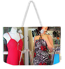Mannequin With Stripped Flower Dress Weekender Tote Bag