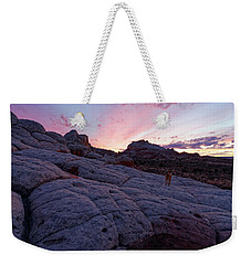 Weekender Tote Bag featuring the photograph Man's Best Friend Sunset by Jonathan Davison