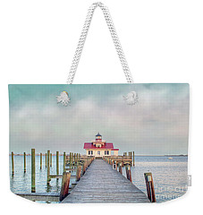 Manteo Lighthouse Weekender Tote Bag by Marion Johnson