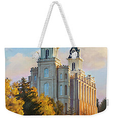 Manti Temple Tall Weekender Tote Bag by Rob Corsetti