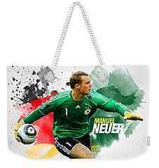 Manuel Neuer Weekender Tote Bag by Semih Yurdabak