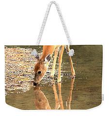 Deer Reflections Weekender Tote Bag by Adam Jewell