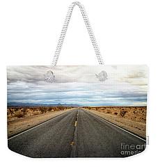 Many Miles Through Mojave Desert Weekender Tote Bag