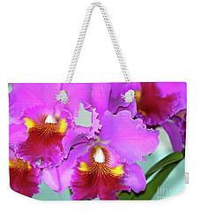 Many Purple Orchids Weekender Tote Bag by Lehua Pekelo-Stearns