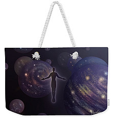 Weekender Tote Bag featuring the painting Many Worlds by Amyla Silverflame
