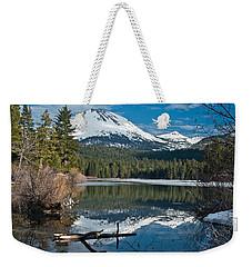 Manzanita Lake Reflects On Mount Lassen Weekender Tote Bag