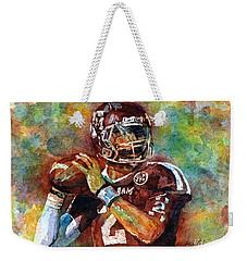 Manziel Weekender Tote Bag by Hailey E Herrera