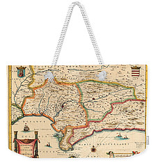 Map Of Andalusia 1650 Weekender Tote Bag by Andrew Fare
