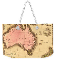 Map Of Australia 1840 Weekender Tote Bag by Andrew Fare