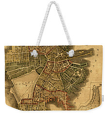 Map Of Boston 1814 Weekender Tote Bag by Andrew Fare