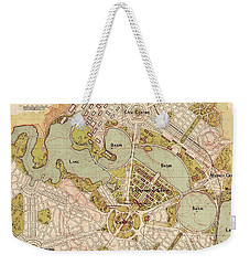 Map Of Canberra 1913 Weekender Tote Bag by Andrew Fare
