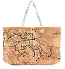 Map Of Caracas 1814 Weekender Tote Bag by Andrew Fare