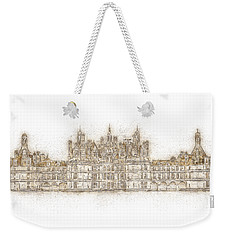 Map Of The Castle Chambord Weekender Tote Bag